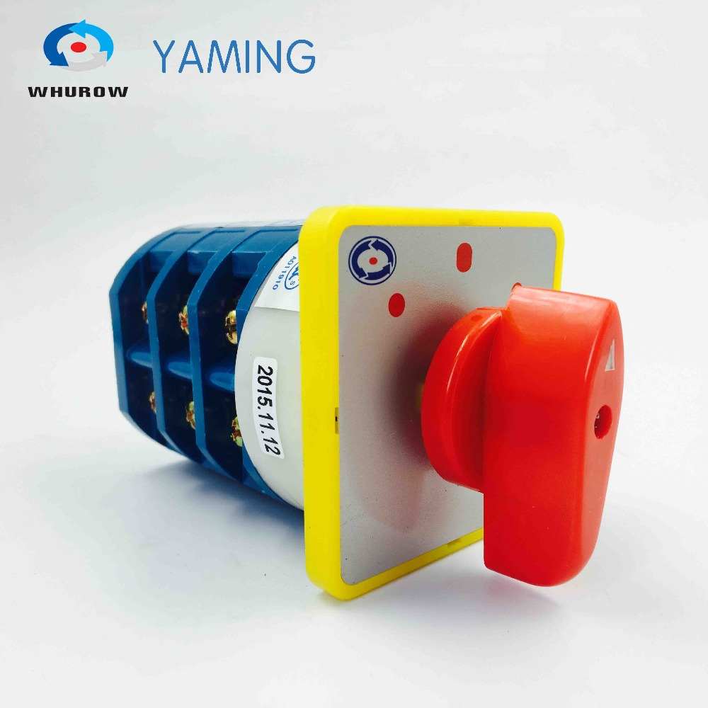 Factory directly 690V 40A 3 phases 3 position silver contact control motor reverse changeover rotary cam switch LW5-40/3 660v ui 10a ith 8 terminals rotary cam universal changeover combination switch