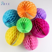 10pcs/lot 6inch15cm Tissue Paper Flower ball Honeycomb Lantern Wedding decoration Birthday Party suppliers Baby showes decor