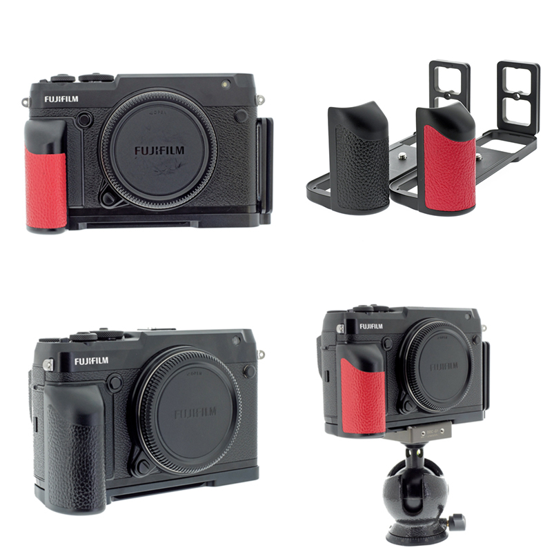 Peipro Quick Release Plate Mount Camera L plate Bracket Hand Grip Holder for FUJI FUJIFILM GFX50R