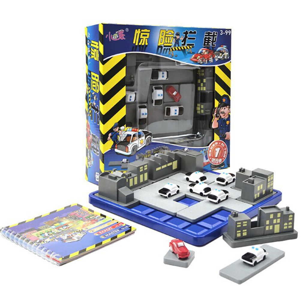 Children Plastic Road Puzzle Thief Games 60 Challenges Kids IQ Intelligence Educational Toys Birthday Gift