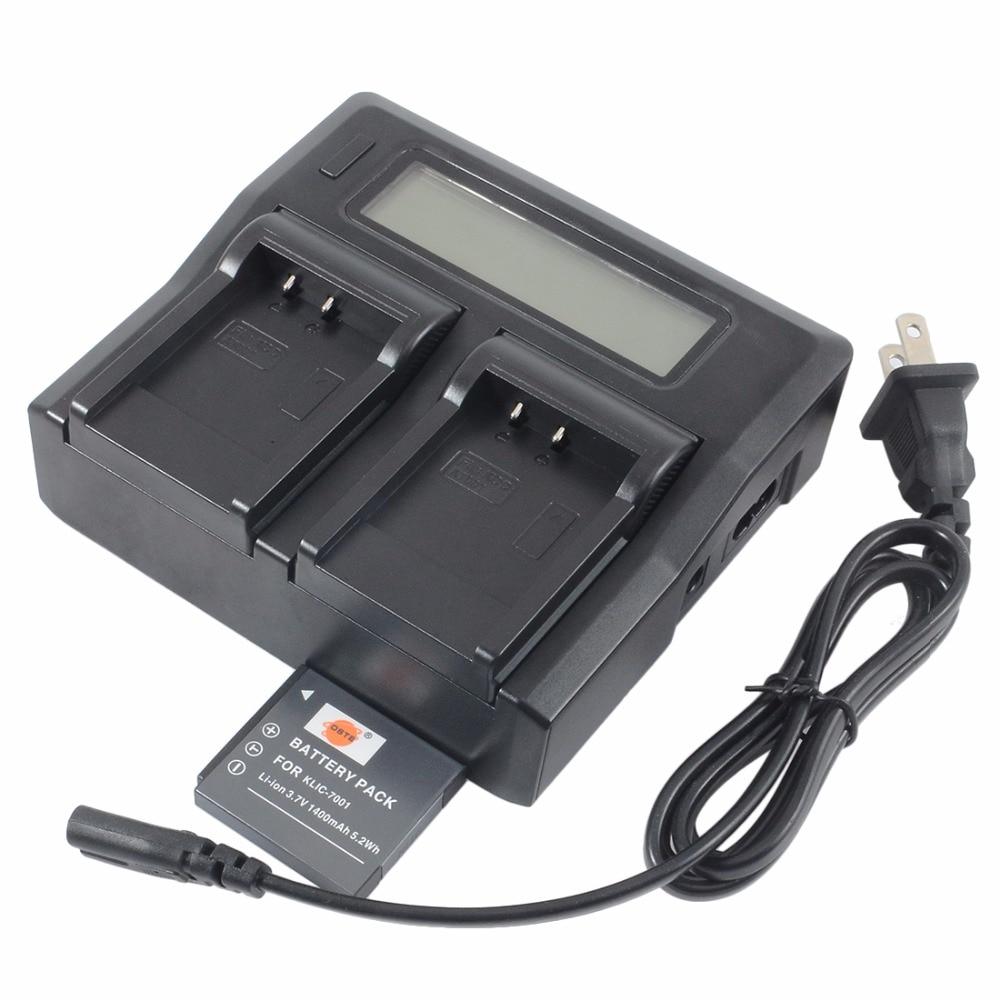 DSTE KLIC-7001 Batterie avec 1.5A Double Chargeur pour KODAK V550 V570 V610 V705 M753 M763 M853 M863 Intelligent Appareil Photo Numérique