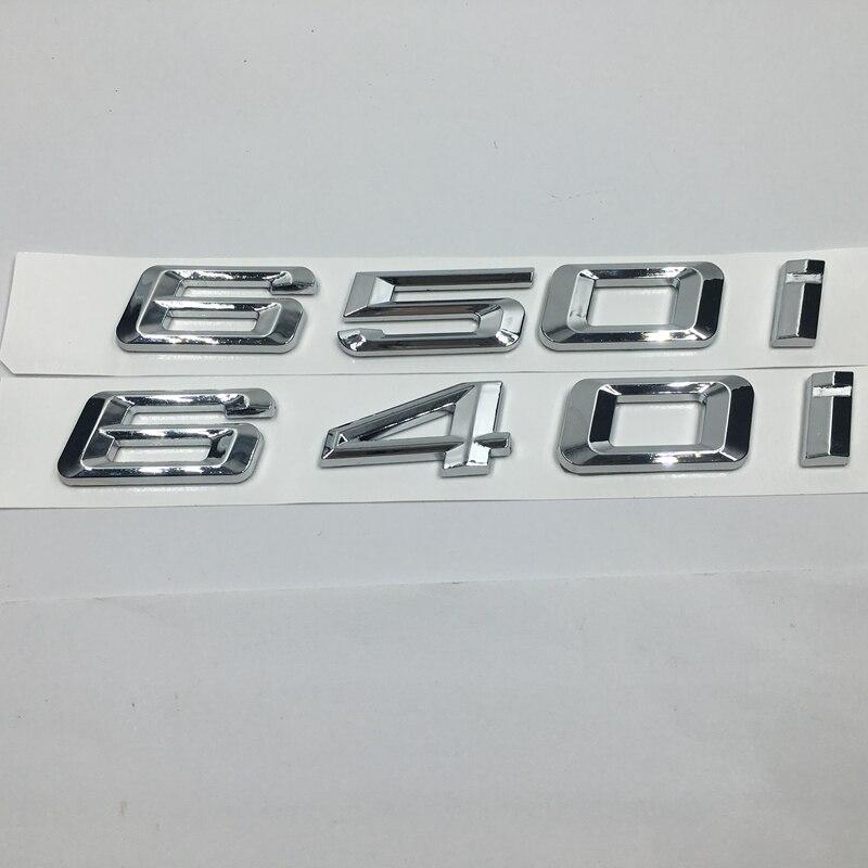 Us 773 29 Offfür Bmw 6 Serie 640i 650i Hinten Boot Tailagte Deckel Anzahl Schriftzug Aufkleber Auto Abzeichen Emblem Logo Aufkleber In