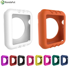 Colorful Silicone for Apple Watch for Iwatch Case Protective Shell 38mm 42mm Series 1 2 Protector Ultra Thin Replacements Cover protector cover for apple watch case 3 2 1 iwatch 42mm 38mm all around ultra thin screen protector case soft silicone shell