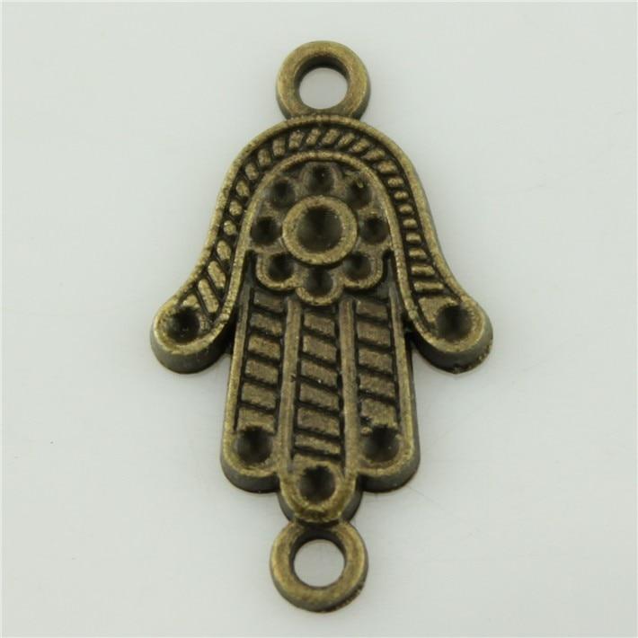 Envío libre 40 unids conector mano Amuletos 29 17mm plateado bronce antiguo  collar retro de la pulsera de la joyería de DIY 31c4979d407