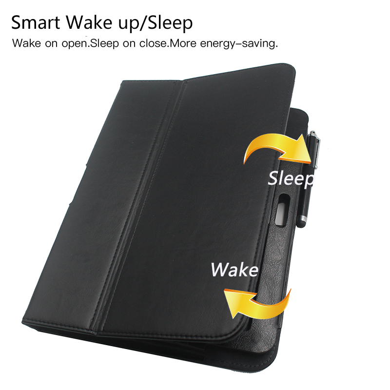 PU Leather Cover For Google Nexus 10 inch tablet slim folio flip smart stand cover case with sleep/wake Up + two free gifts