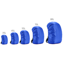 35L-80L Outdoor Sport Waterproof Backpack Camping Hiking Cycling Dust Rain Cover Portable Anti-theft Bag Rain Cover Blue Black