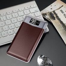 20000mah Portable Power Bank for iPhone Android phones Ultra Slim Digital Display Dual USB/LED light External Backup Powerbank(China)