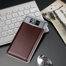 20000 мАч портативный power Bank для iPhone Android телефоны ультра тонкий цифровой дисплей двойной USB/светодиодный свет внешний резервный power bank