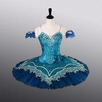 Обувь для девочек Юбка для балета Новый стиль ats9004 Для женщин плотно органов танец пачка синяя птица конкурс костюмы 10 слоев Балетные костюм