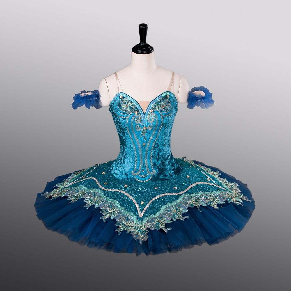 Girls Ballet Skirt New Style ATS9004 Women Tight Bodies Dance Tutu Blue Bird Competition Costumes 10 Layers Ballet Pancake
