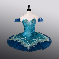 Girls Ballet Skirt New Style ATS9004 Women Tight Bodies Dance Tutu Blue Bird Competition Costumes 10 Layers Ballet Pancake