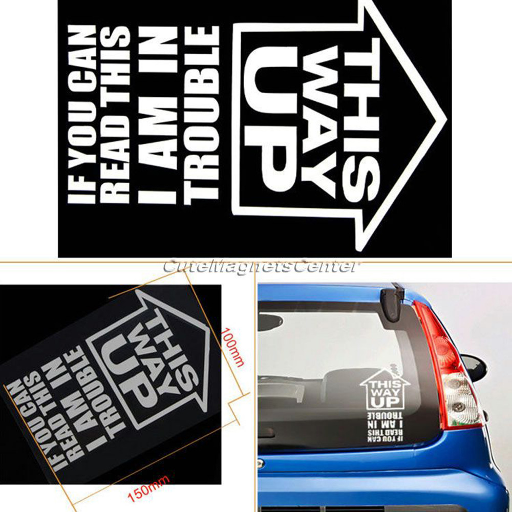 Car pass sticker design - 1 Pc Car Sticker This Way Up If You Can Read Accessories Window Jdm Vw Dub