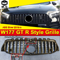 Для Mercedes W177 GTS Style grill A class Sport A160 A180 A200 A250 A45 look grills abs gloss Black с камерой 2019-in