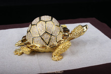 Middle Size turtle jewelry box metal Jewellery Trinket Box small Turtle Shape Lovely Jewelry Box Sea