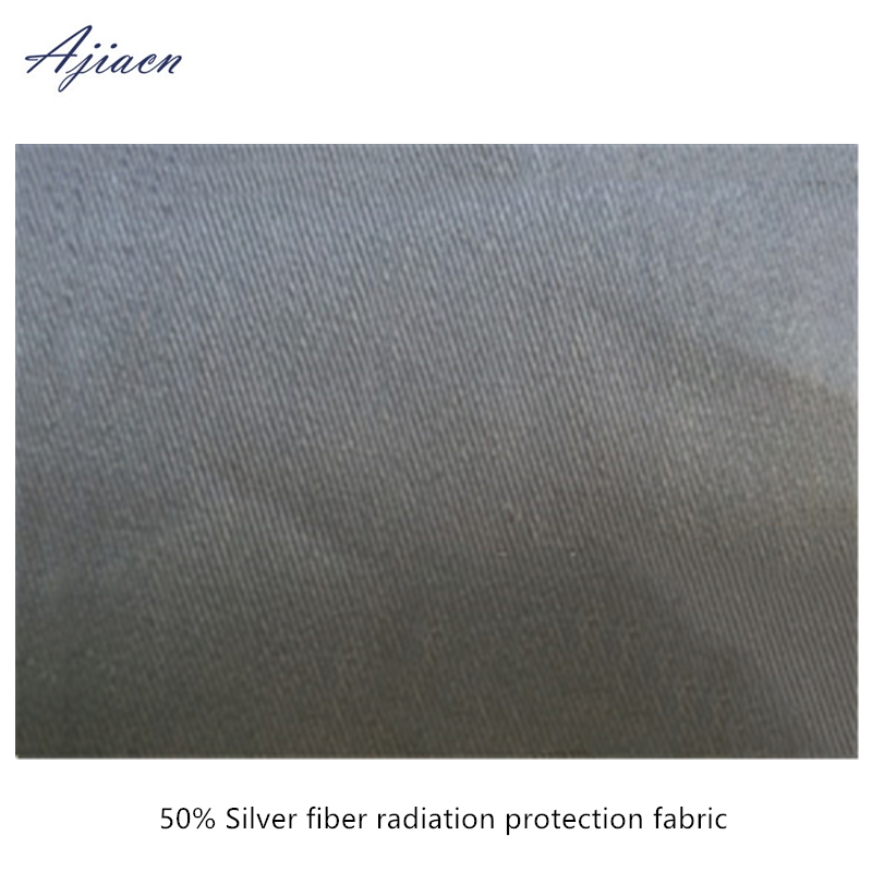 Ajiacn Genuine Electromagnetic Radiation Protective Silver Fibe Fabric EMF Shielding Anti-radiation Silver Fiber Cloth