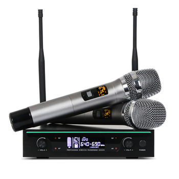 New arrival professional pll uhf wireless microphone with 50 frequencies to select