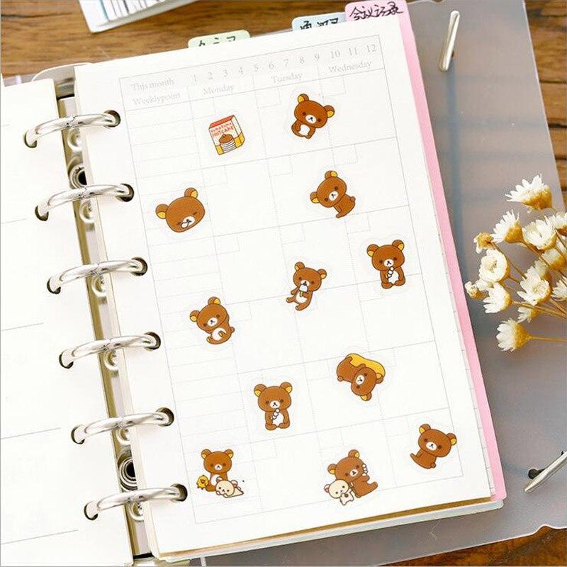 8 Blatt Papier Aufkleber DIY niedlich Foto Scrapbook Tagebuch Notebook Planner