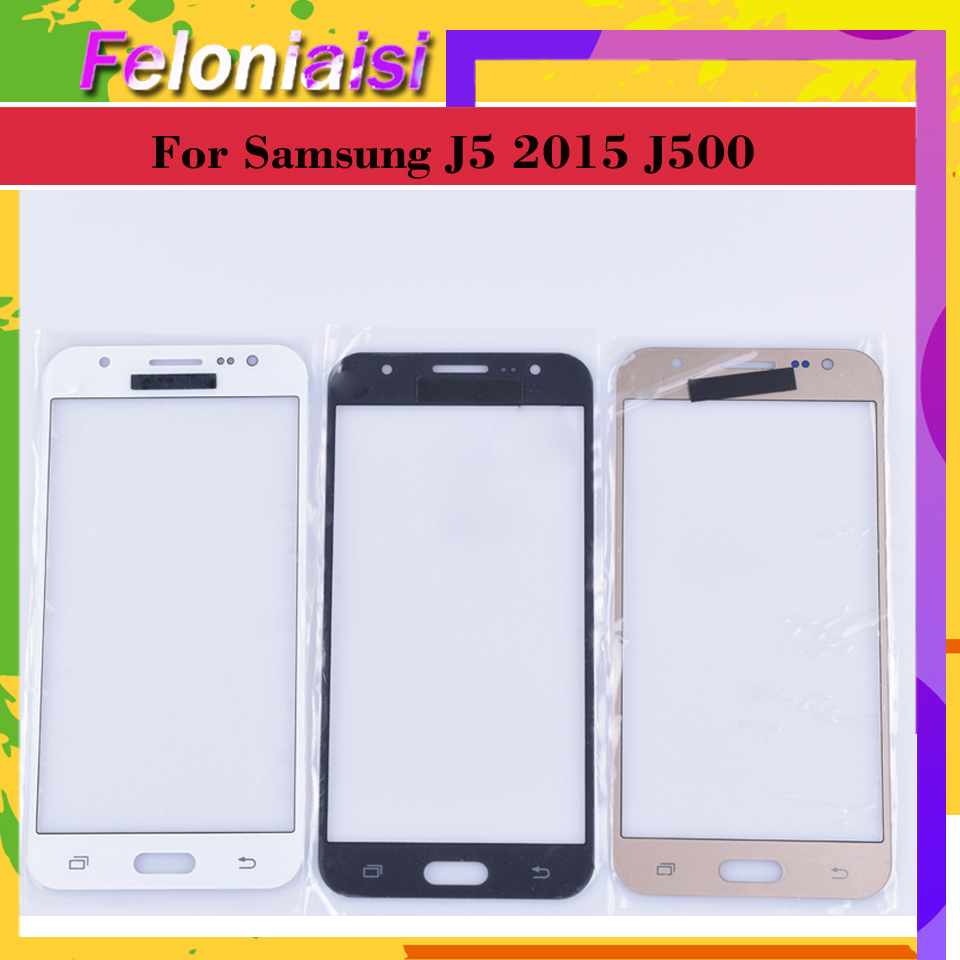 10Pcs lot For Samsung Galaxy J5 2015 J500 J500H J500FN J500F SM J500F Touch Screen Outer Glass TouchScreen Lens Front Panel in Mobile Phone Touch Panel from Cellphones Telecommunications