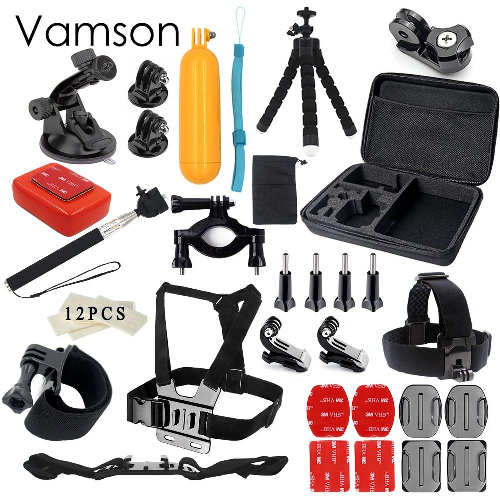 Vamson for Gopro hero 5 accessories set for gopro kit mount SJ4000 hero 4 3 2 1 Black Edition SJCAM M10 SJ5000 case xiaoyi  VS74