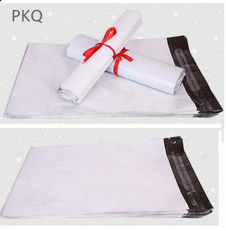 Papierumschläge 100 Pcs/lot 20*35 Cm Weiß Poly Mailing Post Umschlag Beutel Kunststoff Express Kurier Taschen Weiß Farbe Selbst-adhesive Poly Mailer
