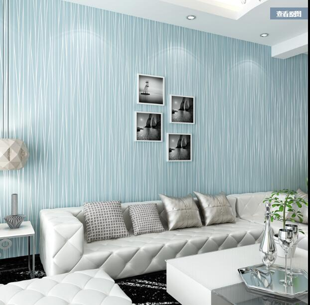 Wallpaper For Living Room 2017 aliexpress : buy 2017 simple striped wallpaper bedroom non