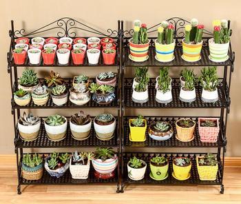 Tieyi multi-layer floor balcony flower shelf, indoor living room fleshy plant flower shelf balcony decoration