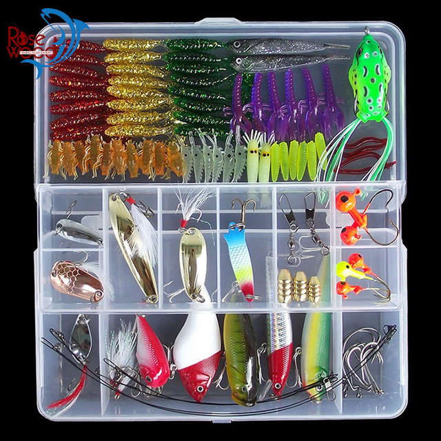 aliexpress : buy 100pcs fishing lure set minnow popper spoon, Soft Baits
