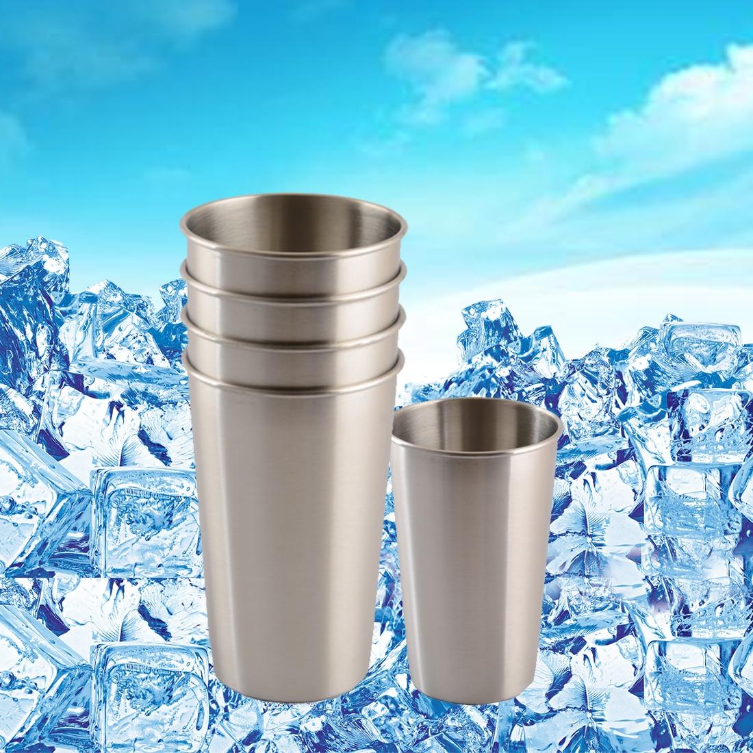 500ml 304 Stainless Steel Wine Cups Drinking Liquor Alcohol Whisky Vodka Bottle Mug Travel Barware Accessories