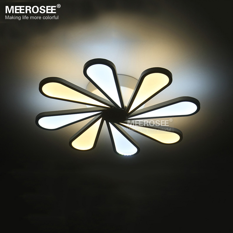 Modern Led Ceiling Light 8 Lights White Acrylic Fixture Windmill Idea Flush Mounted Lamp For Dining Room Bedroom In From