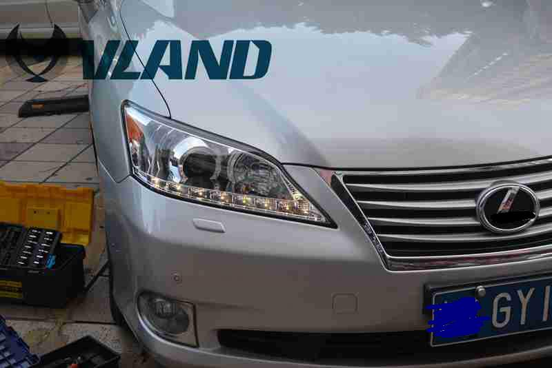 Free shipping Vland Factory Car Head Lamp For Lexus ES 250 for ES 300 For ES 350 LED Headlight Plug and Play Fit for 2007-2012 free shipping for vland car head lamp for great wall h6 2011 2013 led headlight hid bi xenon headlamp with led drl plug and play