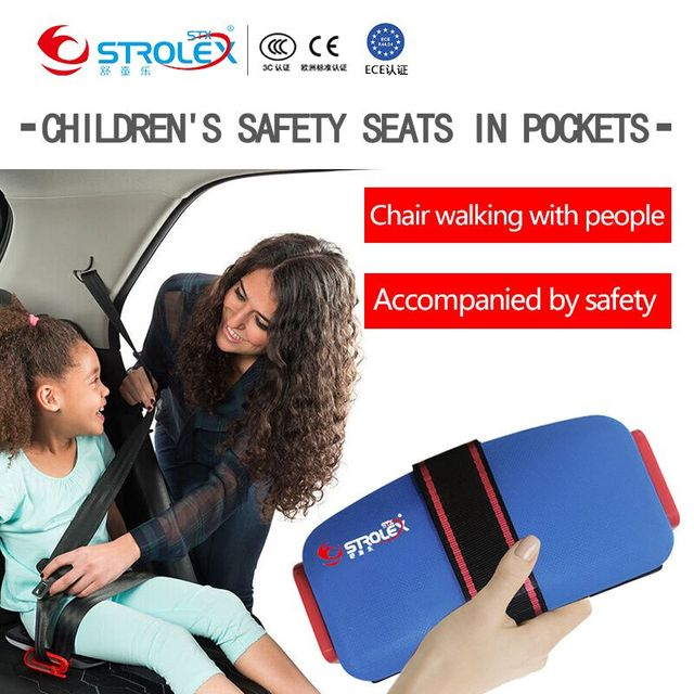 Mifold Foldable Portable baby Car Seat Safety Cushion Kids Safety Car Seat Liner 3-12 Years old Child Car Safety Seat Harness