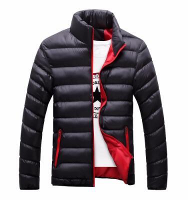 11fe638d44f3 Stand Collar Winter Purple Navy Blue Cotton Winter Jacket Parka Hot Warm  Fashion Brand Clothing Coats