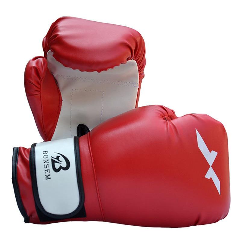 BONSEM Brand Male Female PU Leather Man Boxing font b Glove b font Mma Sanda Kung