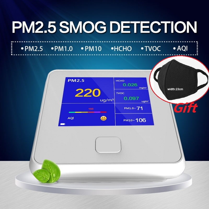 8 in 1 TVOC HCHO PM1.0 PM2.5 PM10 Detector Temperature Humidity Meter Gas Analyzer Home Protection AQI Air Quality Monitor сварочный аппарат инверторный elitech аис 200prof