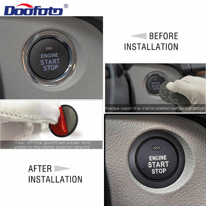 Doofato decoración Interior del coche botón de arranque de motor de estilismo cubre Auto anillos caso para Toyota C HR C-HR Prius Corolla Rav4 Camry