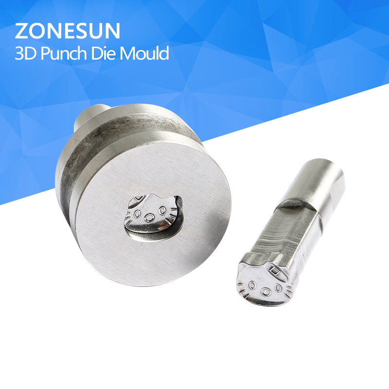 ZONESUN Stamp die mold cartoon sugar pills Punching Set Stamp tablet die for pills candy press equipment TDP 0/1.5/5 any kind punching die press brake tooling mold