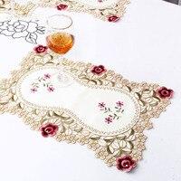 Обеденный стол коврик винтажная вышитая кружевная тканевая салфетка 30*45 см цветочный новое поступление