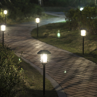 Super Bright stainless steel Glass Lampshape Solar panel LED Light Landscape Garden Lawn Solar Lamps Outdoor Grounding Sun Light