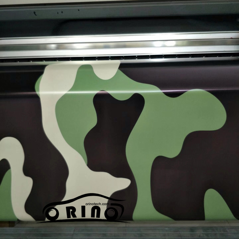 Big black green camouflage sticker wrap film army green camo car wrapping vinyl with air bubble free in car stickers from automobiles motorcycles on