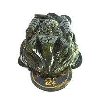 Feng Shui Big Green Jade Money Frog Toad For Wealth J2103