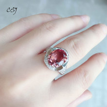 CSJ Zultanite Ring Sterling 925 Silver Created Diaspore Zultanite Color Change Fine Jewelry Women Wedding Engagement Party Gift