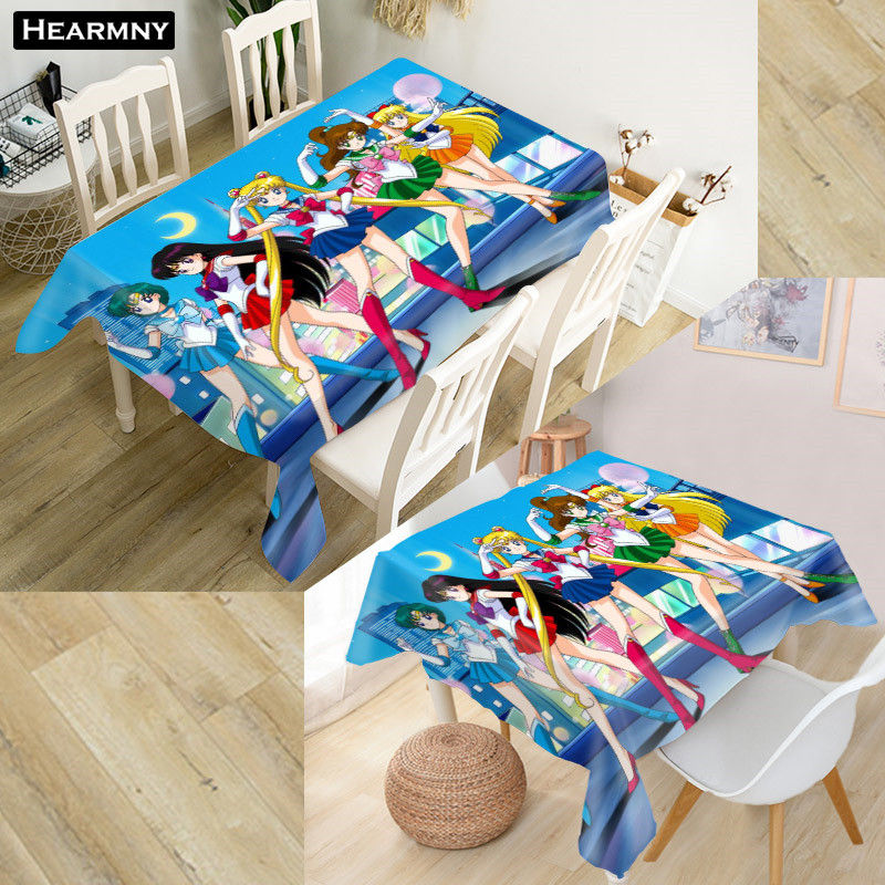 Custom Sailor Moon Tablecloth New Year Decorations Home ...