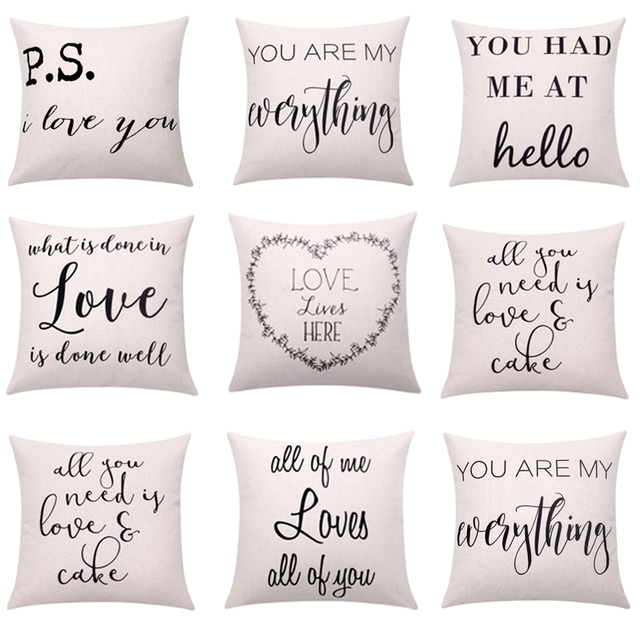 Valentines Day Cushion Cover Love Quote Throw Pillow Cover Letter Magnificent Decorative Pillows With Words