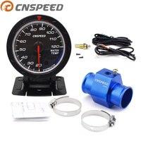 CNSPEED 60mm Water Temperatuurmeter 20-120 Celsius met 1/8NPT Water Temperatuur Seal Pijp Sensor Adapter
