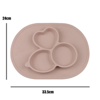 ULKNN FDA Baby Silicone Table Mat Food Grade Non Slip Anti Fall Kid Silicone Suction Tray Children Integrated Plate Table Mat