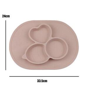 ULKNN FDA dla dzieci silikonowe maty stołowe klasy spożywczej antypoślizgowe Anti-jesień dzieciak silikonowe ssania tacy dzieci zintegrowane płyta stół mata