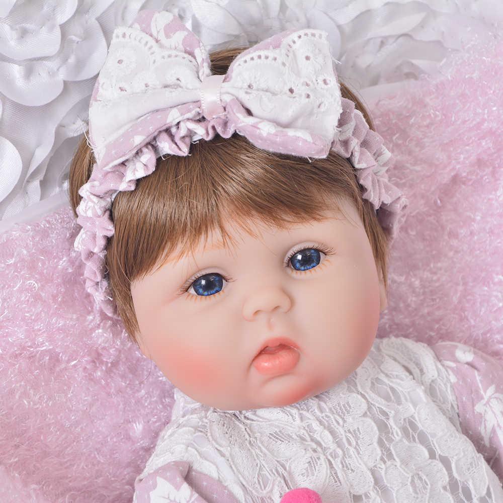 KEIUMI Симпатичные Силиконовые Rebron Кукла Новорожденный ребенок 17 дюймов Реалистичная принцесса 43 см Друзья детей Baby Reborn Мода DIY игрушки