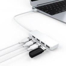 Hub de estación de acoplamiento USB de alta velocidad uno para cuatro conectores de interfaz y convertidor de hub ultrafino adaptador para macbook