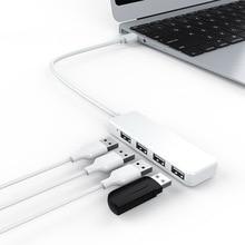 Usb 도킹 스테이션 허브 4 개의 인터페이스 플러그 앤 플레이 용 고속 usb 허브 macbook 용 초박형 허브 컨버터 어댑터