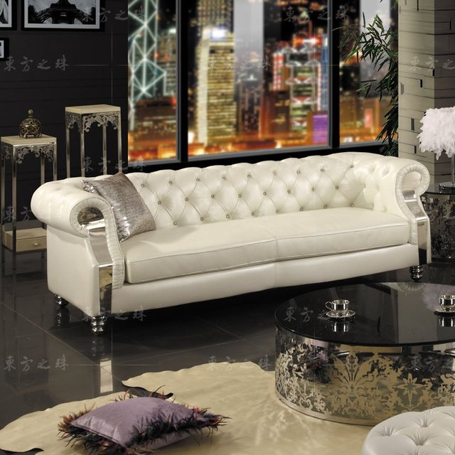 2015 New chesterfield sofa modern living room sofas #sf301 3 seater ...